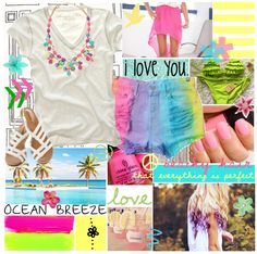 """Ocean Breeze."" by meghanashleyxo ❤ liked on Polyvore"