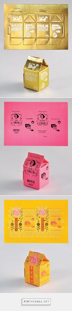 Milk Carton Postcards via CMYBacon curated  by Packaging Diva PD. Clever postcard packaging idea.