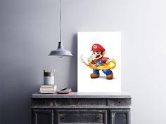 """Placa decorativa """"Super Mario""""  Temos quadros com moldura e vidro protetor e placas decorativas em MDF.  Visite nossa loja e conheça nossos diversos modelos.  Loja virtual: www.arteemposter.com.br  Facebook: fb.com/arteemposter  Instagram: instagram.com/rogergon1975  #placa #adesivo #poster #quadro #vidro #parede #moldura"""