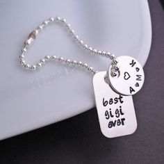 Sterling Silver Best Gigi Ever Purse Charm, Mother's Day Gift for Gigi by georgiedesigns on Etsy