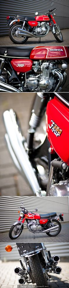 Honda CB350 Four. Restored by 'Blauwe Plaat' Utrecht, the Netherlands.... - a grouped images picture - Pin Them All