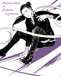 Jemima West as Isabelle Lightwood | drawn by Cassandra Jean