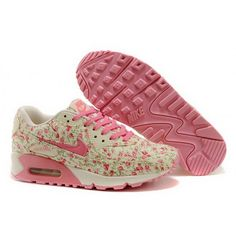 01d491895 Women Nike Air Max 90 Flowers Pink Shoes Nike Shoes Online