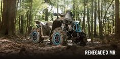 New 2017 Can-Am Renegade X mr 570 ATVs For Sale in New Jersey. Renegade® X® mr 570ENGINEERED FOR MUD RIDINGSpecifically designed to take on the toughest mud holes, the Renegade X mr 570 comes straight from the showroom with numerous factory installed accessories.FeaturesROTAX SNORKELED V-TWIN ENGINE WITH RELOCATED CVT INTAKE AND OUTLET: Equipped with the 48-hp Rotax 570 liquid-cooled V-Twin engine, with four valves per cylinder and single overhead camshaft, you've got the power to get in…