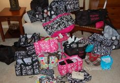 I have 31 Thirty One bags. I may need an intervention, but I USE them all! Come see how. | Organize 365