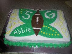 greenbay packers buttetfly cake