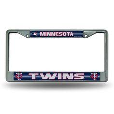 Minnesota Twins Bling Glitter Chrome License Plate Frame #MinnesotaTwins