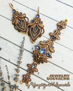 Soutache Bracelet, Soutache Jewelry, Beaded Jewelry, Tatting Jewelry, Clay Jewelry, Shibori, Seed Bead Earrings, Beaded Embroidery, Beading Patterns