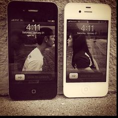 Cute. Could work for me and my husband, we both have iPhones ! Mine white and his black !