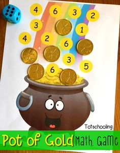 Pot of Gold Roll & Cover Math Game