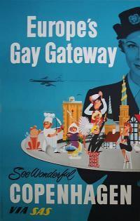 Cool Poster Europe's Gay Gateway, See Wonderful Copenhagen via SAS