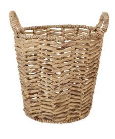 Keep your laundry neatly organised in this basket that features carry handles for convenience. Laundry Storage, Storage Baskets, Touch Lamp, Round Basket, Iron Wire, Water Hyacinth, Natural Christmas, Friends In Love, Herringbone