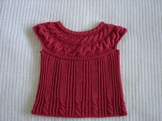 Ravelry: Raspberry wonder top with cables pattern by Baiba Dzelme