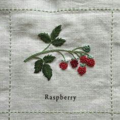 정원도감 자료 - 호비라호비레 패키지 자수 : 네이버 블로그 Embroidery Techniques, Embroidery Stitches, Hand Embroidery Designs, Silk Ribbon Embroidery, Embroidery Applique, Christmas Embroidery, Needlework, Raspberry, Dish Towels