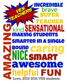 SUPERHERO Teacher posters - TWO 2015 Teacher Appreciation posters ...