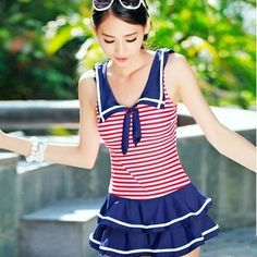 "Fashion kawaii students navy swimsuit Cute Kawaii Harajuku Fashion Clothing & Accessories Website. Sponsorship Review & Affiliate Program opening!so fashionable and sweet without looking too bare perfect for you students, use this coupon code ""Fanniehuang"" to get all 10% off shop now"
