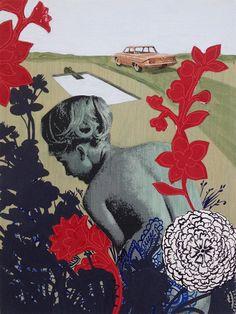 Collage et peinture par Lauren Matsumoto