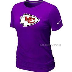 http://www.xjersey.com/kansas-city-chiefs-purple-womens-logo-tshirt.html KANSAS CITY CHIEFS PURPLE WOMEN'S LOGO T-SHIRT Only 24.60€ , Free Shipping!