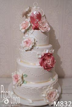 Vintage svadbena torta