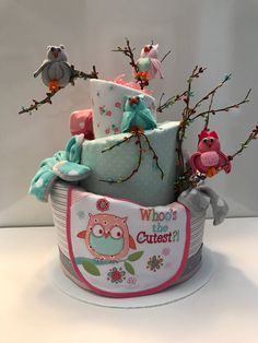 How to Make a Diaper Cake for a Baby Shower, Baby Shower Crafts, and Washcloth Animals