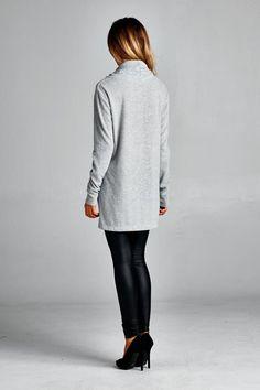 Long Sleeve Cowl Neck Tunic