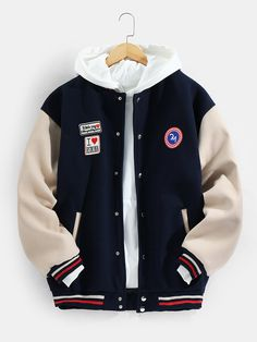 Teenage Boy Fashion, Champion Clothing, Aesthetic Grunge Outfit, Stylish Hoodies, Oversized Jacket, Cotton Jacket, Character Outfits, Clothes For Sale, Casual Outfits