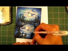 Stampscapes 101: Video 6.  White Gel Pen and Pigment Ink Embellishment