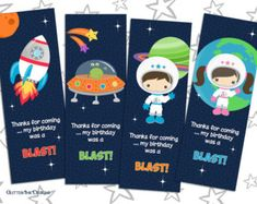 Outer Space - Birthday Invitation Template (free ...