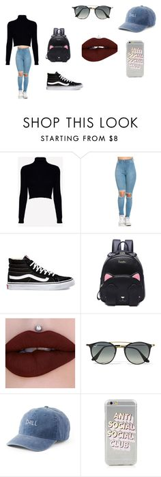 """""""cute"""" by smfigueroa19 on Polyvore featuring Jack Wills, Vans, Ray-Ban and SO"""