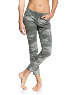 SMB6Suntrippers Crop Camo Jeans by Roxy - FRT1