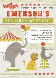 CIRCUS CHEER BIRTHDAY PARTY INVITE
