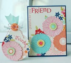 Friends 'Til The End Revisited - Floral Card and Tag by Betsy Veldman for Papertrey Ink (March 2013)