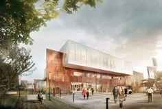 Dansk Center For Partikelterapi by aarhus arkitekterne #hospital #danisharchitecture #scandinavianarchitecture #greenarchitecture #aarhusarkitekterne