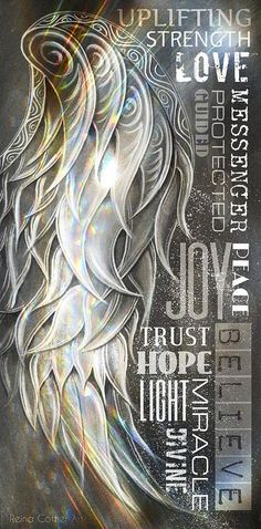 Angel Wing Word Art Art Print by Reina Cottier. All prints are professionally printed, packaged, and shipped within 3 - 4 business days. Choose from multiple sizes and hundreds of frame and mat options.