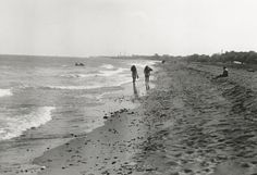 Students on the beach, 1970s :: Staubitz Archives Digital Images