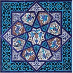#ismek Turkish Art, Turkish Tiles, Islamic Art Pattern, Pattern Art, Arabesque, Geometry Pattern, Iranian Art, Panel Art, Tile Art