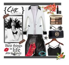 """""""Going out!"""" by alenka-flower ❤ liked on Polyvore featuring Posh Girl, Moschino, Aquazzura, Chrome Hearts, éS, Walls Need Love, Manic Panic, Michael Kors, Too Faced Cosmetics and polyvoreeditorial"""