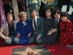 Leonard Nimoy Has Died. Here's How the Internet's Remembering Him | Nimoy with his family, receiving a star on the Hollywood Walk of Fame in 1985 in Los Angeles.   Wally Fong/AP  | WIRED.com