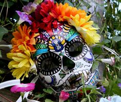 Custom handmade Calavera Mexican Day of the Dead by LilBittyFish, $30.00... Love these things