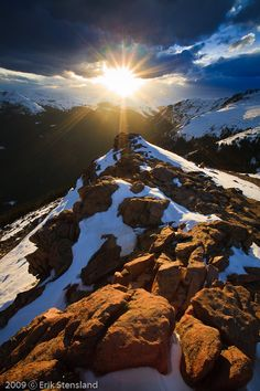 Sunset at Forest Canyon Overlook -- a must stop on Trail Ridge Road - photo by Erik Stensland