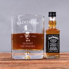 Zestaw szklanka i buteleczka whisky EKSPERT