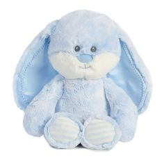 Aurora Baby Huggy Bunny - Soft, cuddly and it crinkles! Fluffy Bunny, Bunny Plush, Diy Baby Gifts, Gifts For Kids, Blue Bunny, Baby Bunnies, Baby Toys, Smurfs, Teddy Bear