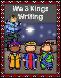 We Three Kings Writing Activity for beginning writers and sequencing