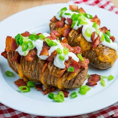Check out these baked potato recipes from some of our favorite bloggers.    Fully Loaded Hasselback Potatoes- Are the perfect vessels for sauce or, in this case, gooey melted cheese because it gets stuck in-between all the grooves