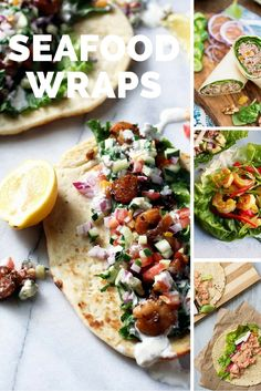 Healthy Seafood Wraps