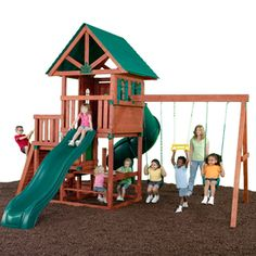 Swing-N-Slide�Southampton Wood Complete Ready-to-Assemble Kit Residential Wood Playset with Swings