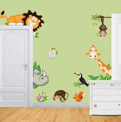 Наклейки в детскую на стену. Нашла здесь - http://ali.pub/97jdq