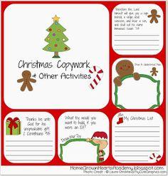 Home Grown Hearts Academy Homeschool Blog: FREE Christmas Copywork