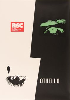 RSC Othello - great graphic design for my collaborative poster assignment