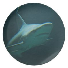 Swimming Shark Melamine Plate - photography gifts diy custom unique special Swimming Photography, Photography Gifts, Shark, Plates, Unique, Diy, Licence Plates, Dishes, Griddles